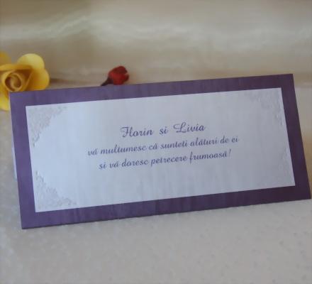 Carduri  Plic Mese Nunta